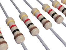 Tira aislada de resistores Foto de archivo libre de regalías