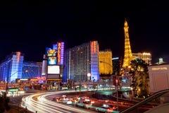 Tira bonita de Las Vegas na noite imagem de stock