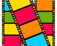 Tira colorida de la película en blanco Fotografía de archivo