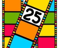 Tira colorida de la película en blanco Fotografía de archivo libre de regalías