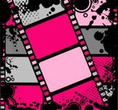 Tira colorida de la película en blanco Fotos de archivo libres de regalías