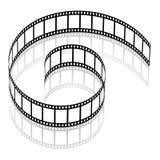 tira da película 3d ilustração stock