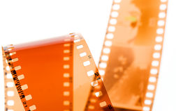 tira da película de 35 milímetros no branco Imagem de Stock Royalty Free