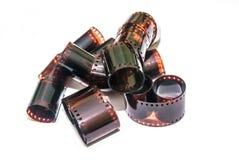 tira da película de 35mm isolada Foto de Stock Royalty Free