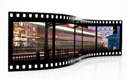 Tira da película do borrão do barramento imagem de stock royalty free