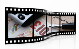 Tira da película do mercado de valores de acção fotos de stock royalty free
