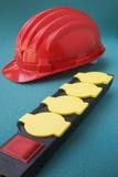 Tira da potência com capacete de segurança Foto de Stock