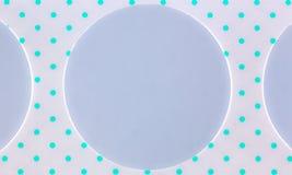 Tira de cartão com furos circulares Fotografia de Stock Royalty Free