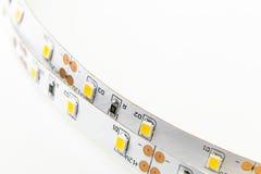 Tira de dos LED con 3 módulos del microprocesador SMD sin aislar Fotografía de archivo