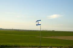 Tira de Gaza com a bandeira israelita em-dianteira Fotografia de Stock