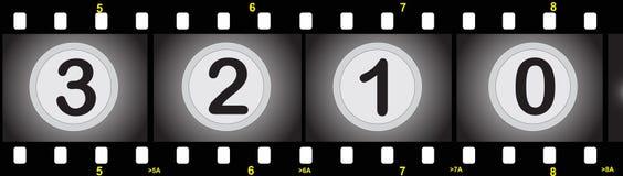 Tira de la película con números ilustración del vector