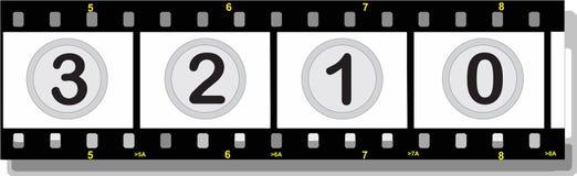 Tira de la película con números con la sombra Foto de archivo libre de regalías
