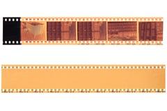tira de la película de 35 milímetros Imagen de archivo