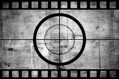Tira de la película de cine del vintage con la frontera de la cuenta descendiente Imágenes de archivo libres de regalías