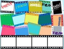 Tira de la película de Grunge Imagen de archivo libre de regalías
