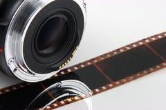Tira de la película de la lente Imagen de archivo libre de regalías