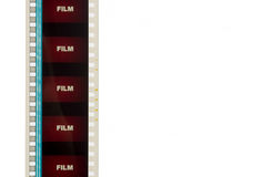 Tira de la película de película roja 2 Imagen de archivo libre de regalías