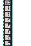 Tira de la película del arranque de cinta de la película Imágenes de archivo libres de regalías