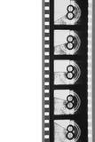 Tira de la película del arranque de cinta de la película del primer (blanco y negro) Imagen de archivo libre de regalías