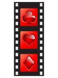 Tira de la película - elementos del casino Fotografía de archivo