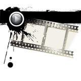 Tira de la película de Grunge Foto de archivo libre de regalías