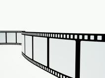 Tira de la película en el fondo blanco Fotografía de archivo libre de regalías