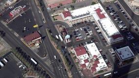 Tira de Las Vegas del alto ángulo almacen de metraje de vídeo