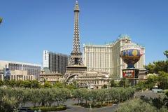Tira de Las Vegas del hotel de París, los E.E.U.U. Fotos de archivo