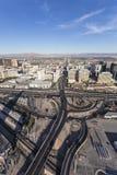 Tira de Las Vegas e estrada aéreas do flamingo Imagem de Stock Royalty Free