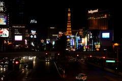 Tira de Las Vegas en la noche Fotos de archivo