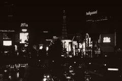 Tira de Las Vegas en la noche Fotos de archivo libres de regalías