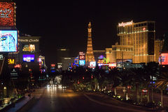 Tira de Las Vegas en la noche Fotografía de archivo libre de regalías