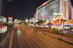 Tira de Las Vegas, Las Vegas, flamenco Las Vegas, zona metropolitana, zona urbana, ciudad, noche imagen de archivo libre de regalías