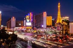 Tira de Las Vegas & interseção do leste da estrada do flamingo fotos de stock royalty free