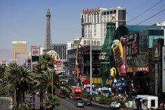 Tira de Las Vegas no dia Imagens de Stock