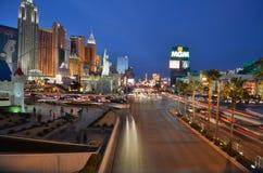 Tira de Las Vegas, Las Vegas, nuevo York-nuevo hotel y casino, zona metropolitana, paisaje urbano, metrópoli, ciudad de York imagenes de archivo