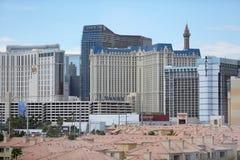 Tira de Las Vegas, opinión de la propiedad horizontal foto de archivo