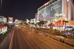 Tira de Las Vegas, zona metropolitana, ciudad, zona urbana, noche foto de archivo libre de regalías