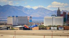 Tira de Vegas, 3 estiramiento de 8 millas ofrecido con los hoteles y el casino de calidad mundial en Las Vegas, Nevada imagenes de archivo