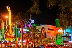Tira de vegas de la ciudad del casino de Arizona fotos de archivo libres de regalías