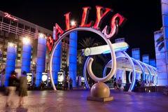 Tira de Vegas na noite fotografia de stock royalty free