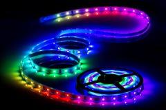 Tira do diodo emissor de luz da cor, fita conduzida Fotografia de Stock