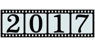 Tira do filme da bandeira 2017 ilustração stock