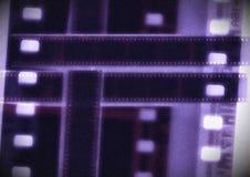 Tira do filme da colagem do vetor do carretel de filme do cobalto em variações do sepia Imagens de Stock