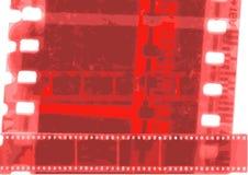 Tira do filme da colagem do vetor do carretel de filme em variações do sepia Fotos de Stock Royalty Free