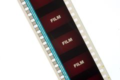 Tira do filme de filme vermelho 1 imagens de stock