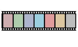 Tira do filme do carretel Fotografia de Stock