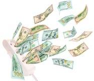 Tira do poder que suga o dinheiro Conceito caro da eletricidade Imagem de Stock Royalty Free