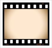 Tira em branco da película do sepia Imagens de Stock