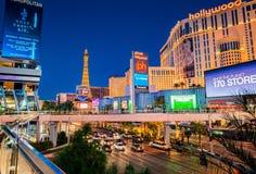 Tira en Las Vegas Foto de archivo